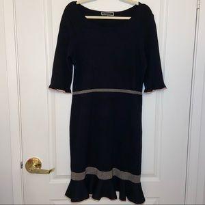 Melanie Lyne Elbow Sleeve Flounce Skirt Sweater